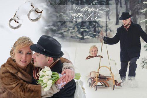 Zimní svatební focení